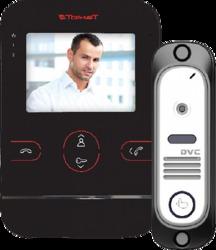 Tor-neT Комплект видеодомофона (TR-25 B монитор видеодомофона цв. + В/П DVC-412Si Color) арт. TR-25 B/412Si