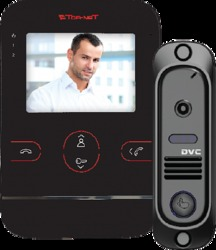 Tor-neT Комплект видеодомофона (TR-25M B монитор видеодомофона цв. + В/П DVC-412С кирпичный) арт. TR-25M B/412Re
