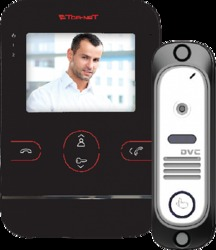 Tor-neT Комплект видеодомофона (TR-25M B монитор видеодомофона цв. + В/П DVC-412С серебро) арт. TR-25M B/412Si