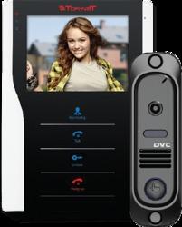 Tor-neT Комплект видеодомофона (TR-35 WB монитор видеодомофона цв. + В/П DVC-412Bl) арт. TR-35 WB/412Bl
