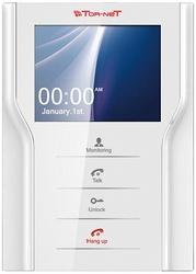 "Tor-neT Монитор видеодомофона, 4,3"" цв., hands free, до 4 мон., 2 дверн.блока, 1 камера, белый арт. TR-35 W"