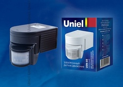 Uniel Датчик движения накладной USN-05180гр 1200W дальность 12m (0,6-1,5m/s) белый арт. 02630
