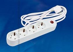 Uniel Фильтр сетевой стандарт «Classic», с/з, 4 гн., шнур 5 м, белый арт. 09797