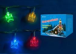 Uniel Гирлянда светодиодная «Кубики» с контроллером, 20 светодиодов, 2,8 м, разноцветная, IP20, провод прозрачный. арт. 07918