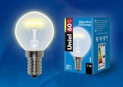 Uniel Лампа накаливания шар мат. IL-G45-FR-60/E14 картон арт. 01507