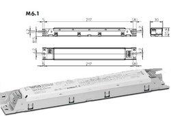 VS ELXc 135.220 ЭПРА для люминесцентных ламп 1x14/21/28/35W корп. М6 230x30x21 арт. ELXc 135.220 188921