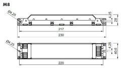 VS ELXc 236.208 ЭПРА для люминесцентных ламп 2x36Вт Т8 G13 тепл запуск арт. ELXc 236.208  188705
