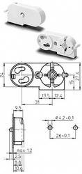 VS Патрон со стартеродержателем для ламп Т8 и Т12 арт. 47605  101769