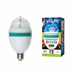 Volpe Белый Светодиодный светильник-проектор ULI-Q301 03W/RGB/E27 арт. 09839