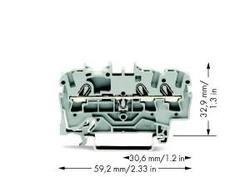 WAGO 3-проводная проходная клемма арт. 2002-1301