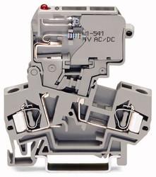 WAGO Клемма на 2 контакта 4 мм.кв. с предохранителем кат арт. 281-611/281-541