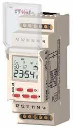 Zamel Программатор времени астрономический 1-канал ЖК 16А 400 программ IP20 на DIN рейку арт. ZCM-31