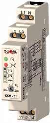 Zamel Реле контроля чередования фаз и падения напряжения 3Ф 10А 170/200VAC (Umin) IP20 на DIN рейку арт. CKM-01