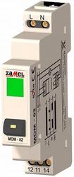 Zamel Выключатель кнопочный с зеленым индикатором 16А IP20 на DIN рейку арт. MOM-02-20