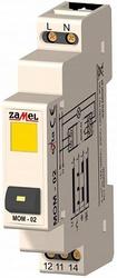 Zamel Выключатель кнопочный с желтым индикатором 16А IP20 на DIN рейку арт. MOM-02-30