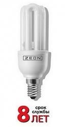 Zeon Лампа люминесцентная компактная 3U 13W Е14 220V тёпло-белая арт. 3U 13W E1427