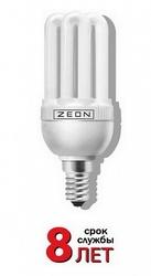 Zeon Лампа люминесцентная компактная 6U 15W Е27 220V холодно-белая арт. 6U 15W E2742