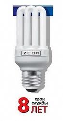 Zeon Лампа люминесцентная компактная 6U 20W Е27 220V тёпло-белая арт. 6U 20W E2727