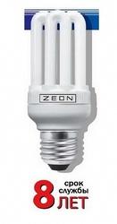 Zeon Лампа люминесцентная компактная 6U 25W Е27 220V тёпло-белая арт. 6U 25W E2727