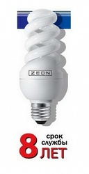 Zeon Лампа люминесцентная компактная спираль 15W E27 тёпло-белая арт. SPC 15W E2727