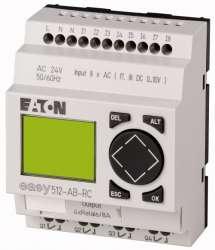Программируемое реле 24V AC, цифровые, 8 DI (2 могут использоваться как как аналог.), 4DO, реле 10А, дисплей+клавиатура, часы реального времени (EASY512-AB-RC10) арт.104569