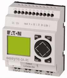 Программируемое реле 12VDC, цифровые 8 DI (2 могут использоваться как как аналог.), 4DO, реле 10А, дисплей+клавиатура, часы реального времени (EASY512-DA-RC10) арт.104574