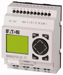 Программируемое реле 24VDC, цифровые, 8 DI (2 могут использоваться как как аналог.), 4DO, транз., дисплей+клавиатура, часы реального времени (EASY512-DC-TC10) арт.104579