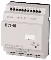 Программируемое реле 24VDC, цифровые, 8 DI (2 могут использоваться как как аналог.), 4DO, транз., часы реального времени (EASY512-DC-TCX10) арт.104580