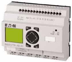 Программируемое реле 24V AC, цифровые, 12 DI (4 могут использоваться как как аналог.), 6DO, реле 10А, дисплей+клавиатура, часы реального времени (EASY719-AB-RC10) арт.104581