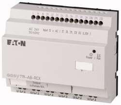 Программируемое реле 24V AC, цифровые, 12 DI (4 могут использоваться как как аналог.), 6DO, реле 10А, часы реального времени (EASY719-AB-RCX10) арт.104582