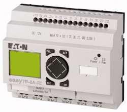 Программируемое реле 12VDC, цифровые, 12 DI (4 могут использоваться как как аналог.), 6DO, реле 10А, дисплей+клавиатура, часы реального времени (EASY719-DA-RC10) арт.104585
