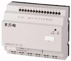 Программируемое реле 24VDC, цифровые, 12 DI (4 могут использоваться как как аналог.), 6DO, транз., часы реального времени (EASY721-DC-TCX10) арт.104590