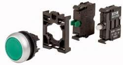 Зеленая кнопка без фиксации с подсветкой, 1НО, 230В AC (M22-DL-G-K10LED230-BVP) арт.132603