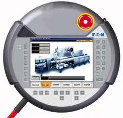 Панель , мобильный, 24VDC, 6,5 дюйма, TFT цветной , Ethernet, RS232 , аварийная кнопка (XVM-430-65TVB-1-11) арт.139996