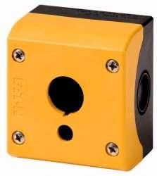 Кнопочный пост, желтый корпус, аварийная кнопка (M22-IY1-XPV60) арт.167798