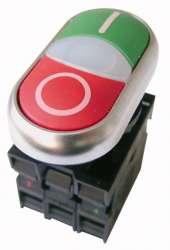 M22-DDL-GR-X1/X0/K11/230-W Кнопка двойная с подсветкой MOELLER / EATON (арт.216509) арт.216509
