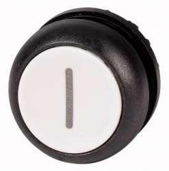 Головка кнопки без фиксации, цвет белый с обозначение O, черное лицевое кольцо (M22S-D-W-X1) арт.216612