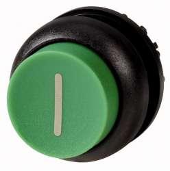 Головка кнопки выступающая без фиксации, цвет зеленый, черное лицевое кольцо (M22S-DH-G-X1) арт.216658