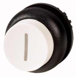 Головка кнопки выступающая без фиксации, цвет белый, черное лицевое кольцо (M22S-DH-W-X1) арт.216662