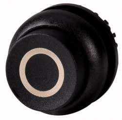 Головка кнопки выступающая с фиксацией, цвет черный, черное лицевое кольцо (M22S-DRH-S-X0) арт.216680