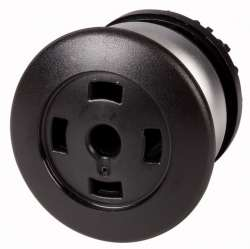 Головка кнопки грибовидная, без фиксации, пустая, цвет черный (M22-DP-S-X-GVP) арт.216729
