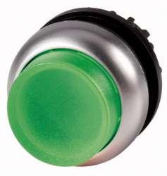 Головка кнопки выступающая с фиксацией, с подсветкой, цвет зеленый (M22-DRLH-G) арт.216796