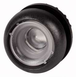 Головка кнопки с подсветкой, без фиксации , черное лицевое кольцо (M22S-DL-X) арт.216935
