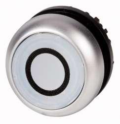 Головка кнопки с подсветкой, без фиксации, цвет белый с обозначение О (M22-DL-W-X0) арт.216940