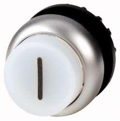 Головка кнопки с подсветкой, выступающие, без фиксации, цвет белый (M22-DLH-W-X1) арт.216981