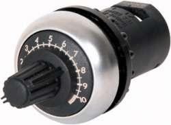 Потенциометр 1 кОм, IP66, черное лицевое кольцо (M22S-R1K) арт.232231