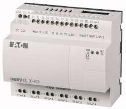 Программируемое реле 24 В DC, цифровые 12 DI (4 могут использоваться как как аналог.), 6DO, реле 10А, 1 AO, часы реального времени (EASY820-DC-RCX) арт.256272