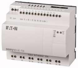 Программируемое реле 24 В DC, цифровые 12 DI (4 могут использоваться как как аналог.), 8DO, транз., часы реального времени (EASY821-DC-TCX) арт.256274
