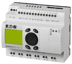 Программируемое реле 24 В DC, цифровые 12 DI (4 могут использоваться как как аналог.), 8DO, транз., 1 AO, дисплей+клавиатура, часы реального времени (EASY822-DC-TC) арт.256275