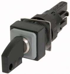 Переключатель с ключом, 3 положения, цвет черный, с фиксацией (Q18S3R-A3) арт.72317